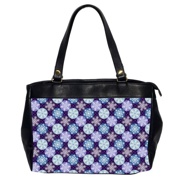 Snowflakes Pattern Office Handbags (2 Sides)