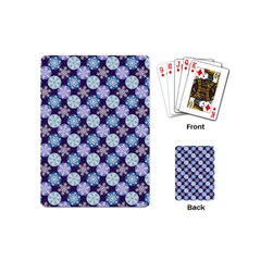 Snowflakes Pattern Playing Cards (mini)  by DanaeStudio