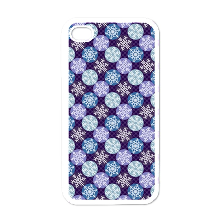 Snowflakes Pattern Apple iPhone 4 Case (White)