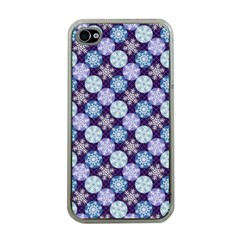 Snowflakes Pattern Apple Iphone 4 Case (clear)