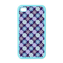 Snowflakes Pattern Apple Iphone 4 Case (color)