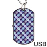 Snowflakes Pattern Dog Tag USB Flash (Two Sides)