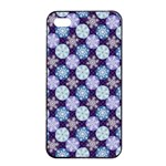 Snowflakes Pattern Apple iPhone 4/4s Seamless Case (Black)