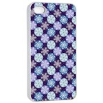 Snowflakes Pattern Apple iPhone 4/4s Seamless Case (White)