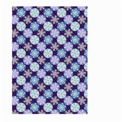 Snowflakes Pattern Large Garden Flag (two Sides) by DanaeStudio