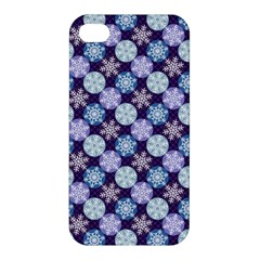Snowflakes Pattern Apple Iphone 4/4s Premium Hardshell Case by DanaeStudio