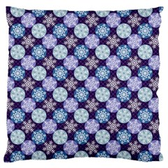 Snowflakes Pattern Large Cushion Case (two Sides) by DanaeStudio