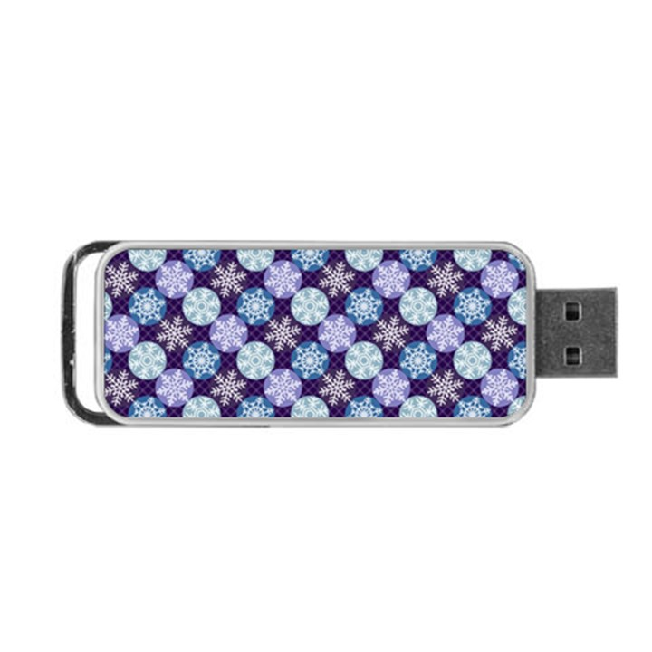 Snowflakes Pattern Portable USB Flash (One Side)