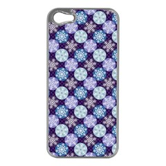 Snowflakes Pattern Apple Iphone 5 Case (silver) by DanaeStudio