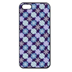 Snowflakes Pattern Apple Iphone 5 Seamless Case (black) by DanaeStudio