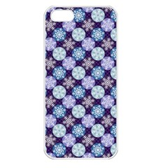 Snowflakes Pattern Apple Iphone 5 Seamless Case (white) by DanaeStudio