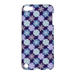 Snowflakes Pattern Apple Ipod Touch 5 Hardshell Case by DanaeStudio
