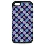 Snowflakes Pattern Apple iPhone 5 Hardshell Case (PC+Silicone)