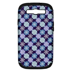 Snowflakes Pattern Samsung Galaxy S Iii Hardshell Case (pc+silicone) by DanaeStudio