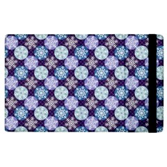 Snowflakes Pattern Apple Ipad 2 Flip Case by DanaeStudio