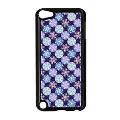 Snowflakes Pattern Apple Ipod Touch 5 Case (black) by DanaeStudio