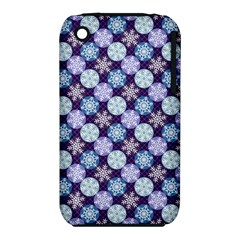 Snowflakes Pattern Apple Iphone 3g/3gs Hardshell Case (pc+silicone) by DanaeStudio