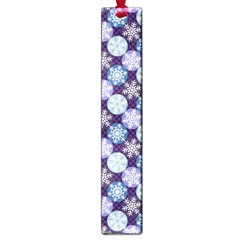 Snowflakes Pattern Large Book Marks by DanaeStudio