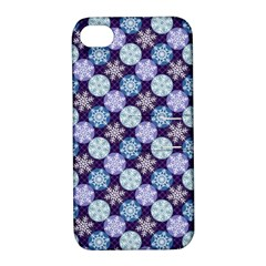 Snowflakes Pattern Apple Iphone 4/4s Hardshell Case With Stand by DanaeStudio