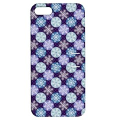 Snowflakes Pattern Apple Iphone 5 Hardshell Case With Stand by DanaeStudio