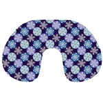 Snowflakes Pattern Travel Neck Pillows