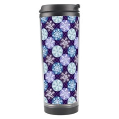 Snowflakes Pattern Travel Tumbler by DanaeStudio
