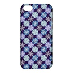 Snowflakes Pattern Apple Iphone 5c Hardshell Case by DanaeStudio