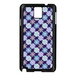 Snowflakes Pattern Samsung Galaxy Note 3 N9005 Case (Black) Front