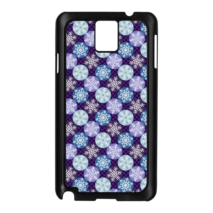 Snowflakes Pattern Samsung Galaxy Note 3 N9005 Case (Black)
