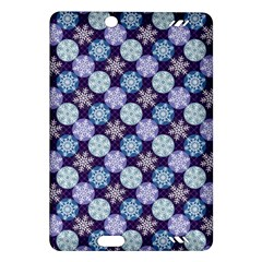 Snowflakes Pattern Amazon Kindle Fire Hd (2013) Hardshell Case by DanaeStudio