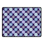 Snowflakes Pattern Double Sided Fleece Blanket (Small)  45 x34 Blanket Back