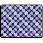 Snowflakes Pattern Double Sided Fleece Blanket (Medium)  58.8 x47.4 Blanket Back