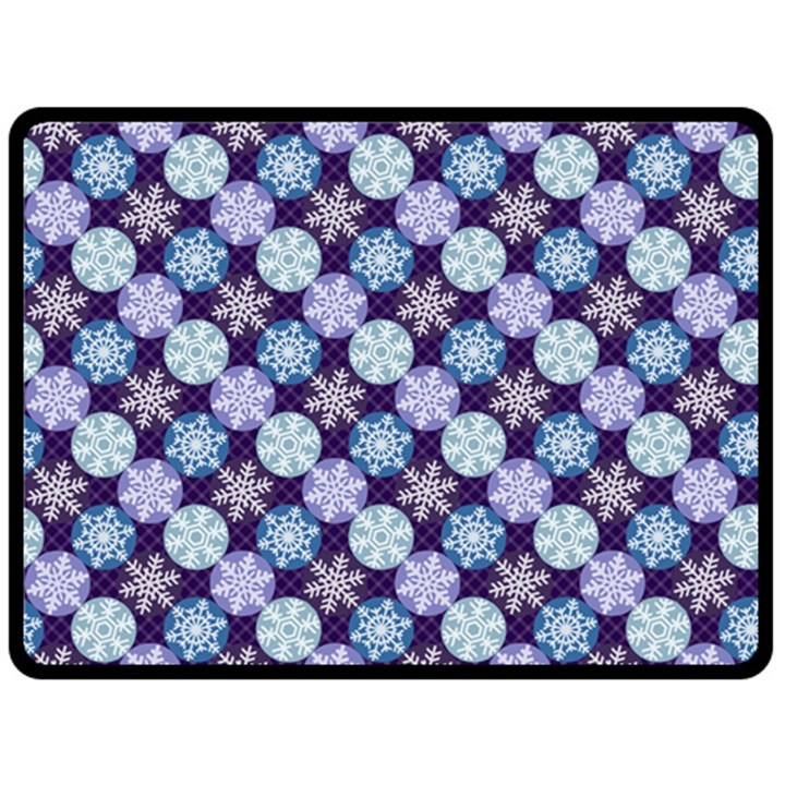Snowflakes Pattern Double Sided Fleece Blanket (Large)