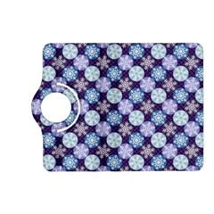 Snowflakes Pattern Kindle Fire Hd (2013) Flip 360 Case by DanaeStudio