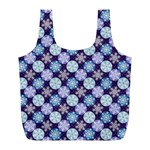 Snowflakes Pattern Full Print Recycle Bags (L)  Back