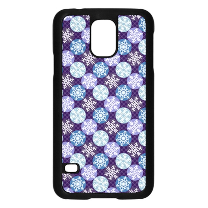 Snowflakes Pattern Samsung Galaxy S5 Case (Black)