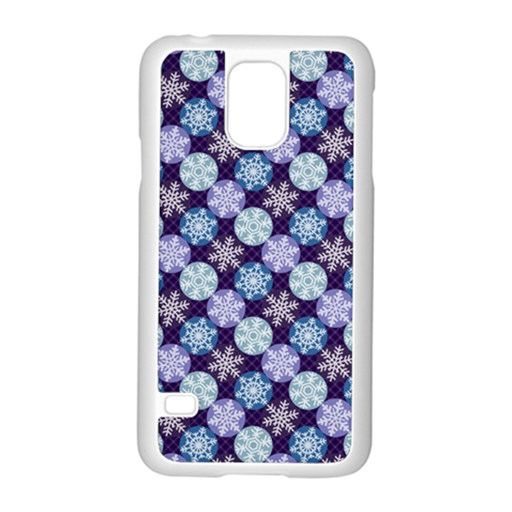 Snowflakes Pattern Samsung Galaxy S5 Case (White)