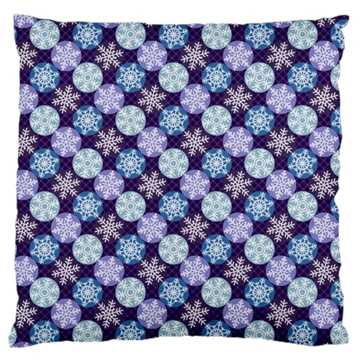 Snowflakes Pattern Standard Flano Cushion Case (One Side)