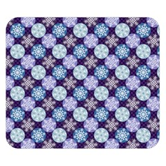Snowflakes Pattern Double Sided Flano Blanket (small)