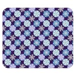 Snowflakes Pattern Double Sided Flano Blanket (Small)  50 x40 Blanket Back