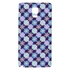 Snowflakes Pattern Galaxy Note 4 Back Case by DanaeStudio