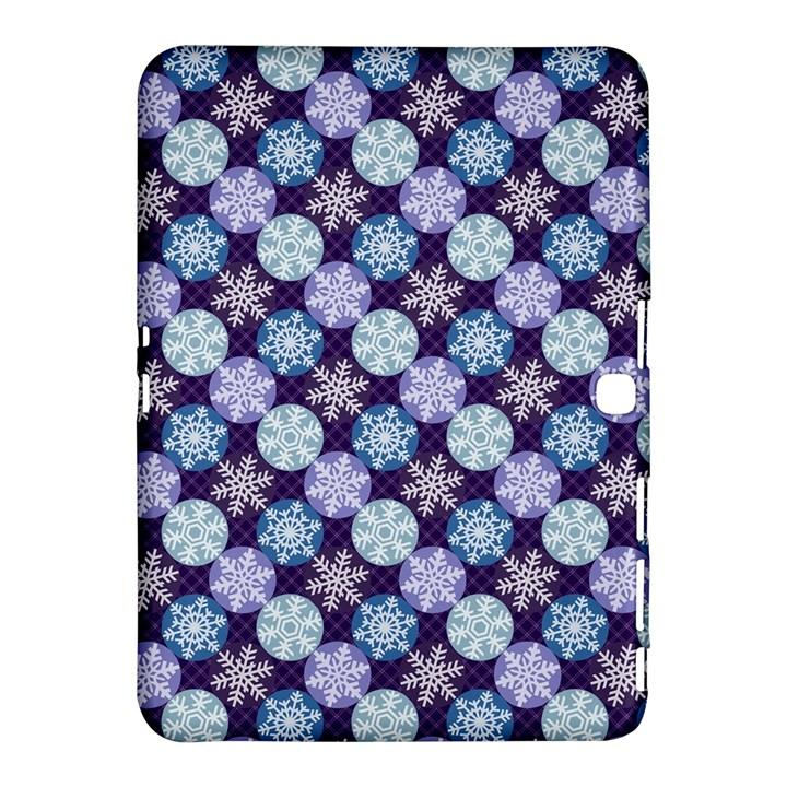 Snowflakes Pattern Samsung Galaxy Tab 4 (10.1 ) Hardshell Case