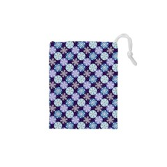 Snowflakes Pattern Drawstring Pouches (xs)  by DanaeStudio