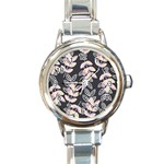 Winter Beautiful Foliage  Round Italian Charm Watch