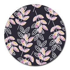 Winter Beautiful Foliage  Round Mousepads by DanaeStudio