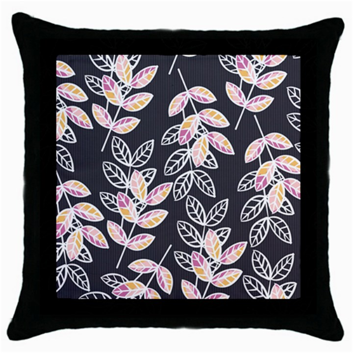 Winter Beautiful Foliage  Throw Pillow Case (Black)