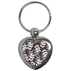 Winter Beautiful Foliage  Key Chains (heart)
