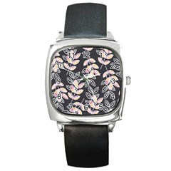 Winter Beautiful Foliage  Square Metal Watch by DanaeStudio