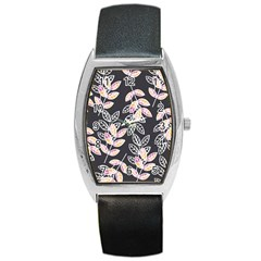 Winter Beautiful Foliage  Barrel Style Metal Watch