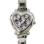 Winter Beautiful Foliage  Heart Italian Charm Watch Front